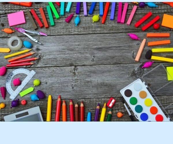 カラフルな鉛筆たくさん
