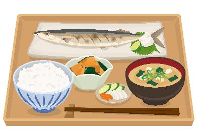 焼き魚と味噌汁の和食定食